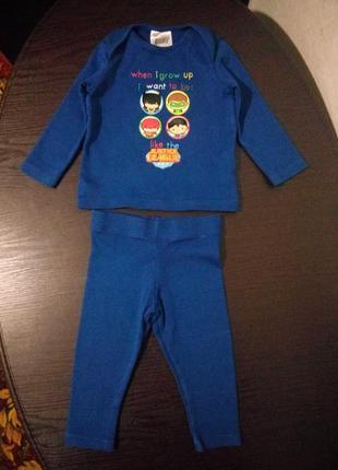 Пижама пижамка комплект на малыша 6-9 мес.