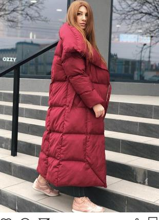Пуховик одеяло длинная зимняя куртка