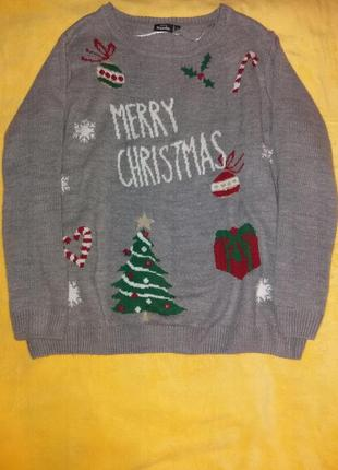 Шикарный новогодний свитер оверсайз