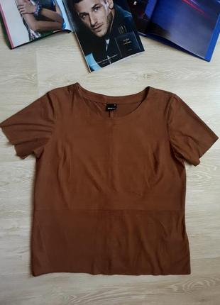 Блуза под замш/ 2я вещь в подарок
