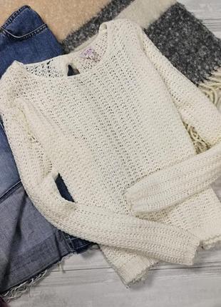 Тонкий молочный свитерок в173430 blue inc размер uk8 (s)