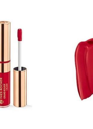Жидкая матовая губная помада grand rouge l'elixir  цвет 110 ив роше