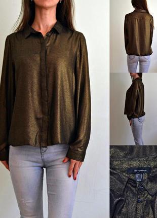 Блуза с золотым напылением