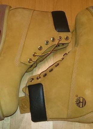 Мужские оранжевые зимние ботинки с исуственным мехом размер5