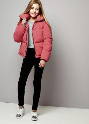 Зимняя куртка зефирка объемная укорочённая new look