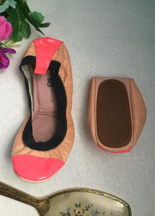 Кожаные балетки  yosi samra  трансформеры самара