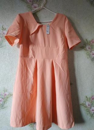 Новое персиковое платье collection london