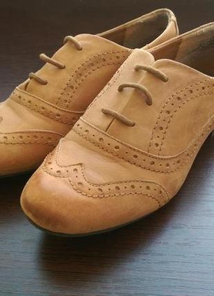 Коричневые оксфорды кожаные известного бренда