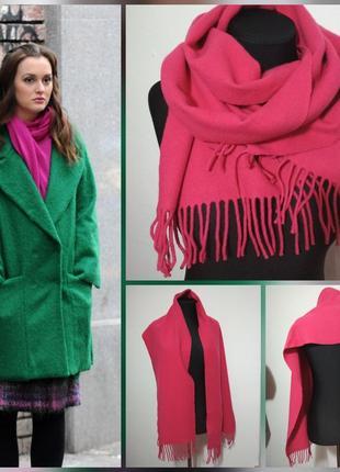 Теплющий натуральный шерстяной шарф, 100% шерсть