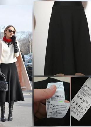 Фирменная, базовая юбка миди, из плотной ткани, супер качество!!!