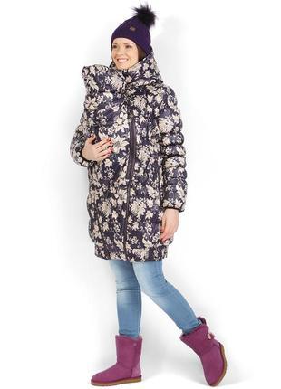 Зимняя слинго курточка для беременных 3в1 i love mom исландия
