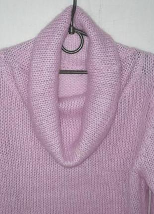 Oxmo тёплый мягкий мохеровый свитер оверсайз кофта гольф воротник хомут 50%мохер 50%акрил