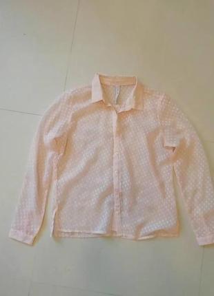 f06641f96bc Stradivarius Блуза. 170 грн 200 грн. 38   M   46. 0. Шифоновая блузка блуза  нюд пудрового цвета в горошек stradivarius
