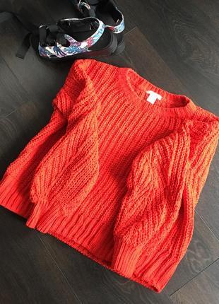 Красивый плюшевый, очень мягкий свитер h&m
