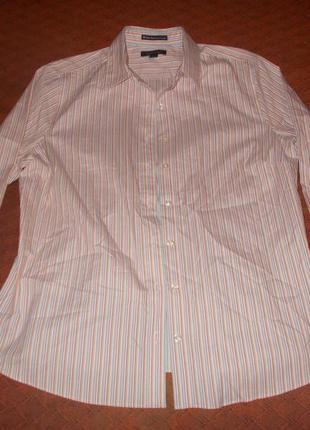 Розовая блуза в полоску lands end
