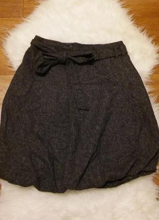 Tommy hilfiger теплая юбка шерсть с шелком