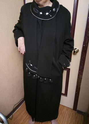 Пальто на высокую крупную девушку, размер указан 68