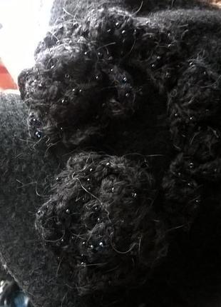 Продам шерстяной беретик на шелковой подкладке