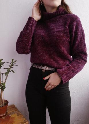 Велюровый свитер с горлом от hennes🖤