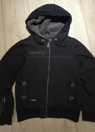 Куртка толстовка с мехом river island размер 10/м