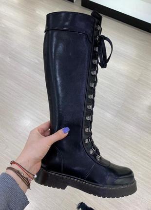 Рр 36-41 люксовые эксклюзивные высокие ботинки берцы мартинсы