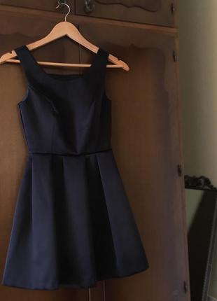 Супер черное платье topshop
