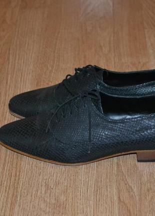 Стильные туфли оксфорды (нат. кожа) от zara