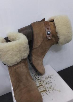 Зимние теплые кожаные сапоги manas италия ботильоны раз. 37 стел. 24 см ботинки
