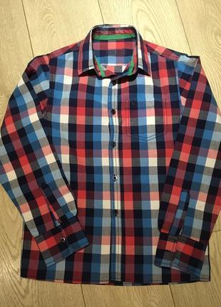 Рубашка в клеточку rebel для мальчика 10-11 лет рост 146