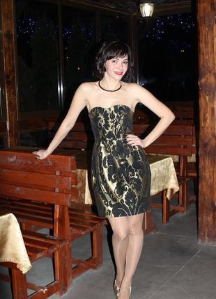 Коктейльное нарядное платье бюстье от h&m!