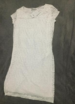 Нарядное белое ажурное платье oodji ultra