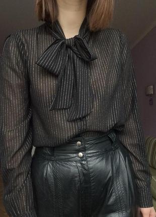 Винтажная вечерняя блузка винтаж новый год
