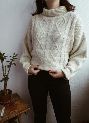 Шерстяной свитер в косы от yessica❤❤