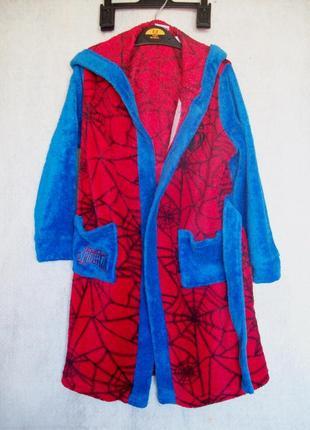 Халат махровый spider-man, длина 68 см.