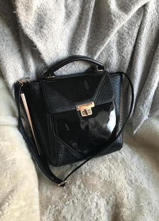 Чёрная вместительная сумка от river island