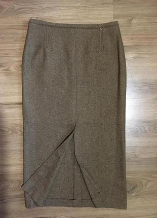 Тёплая шерстяная юбка с разрезами!!