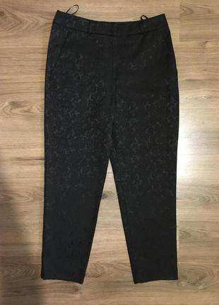 Роскошные укороченные  брюки чинос ,жаккард,s-m