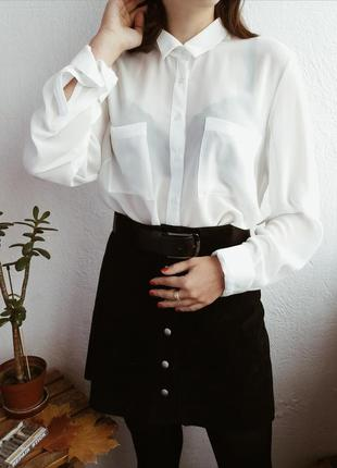 Базовая  белая блуза от new look ❤