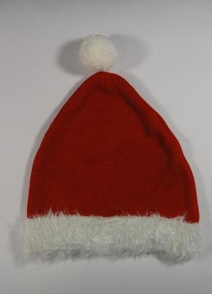 Новогодняя вязанная шапочка 3-6 лет