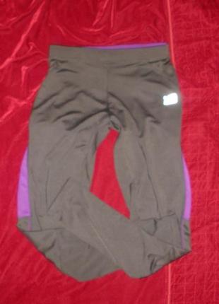 Спортивные лосины тайтсы штаны для спорта фитнеса бега karrimor /р м
