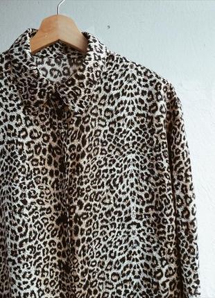 Шелковая леопардовая блуза🔥