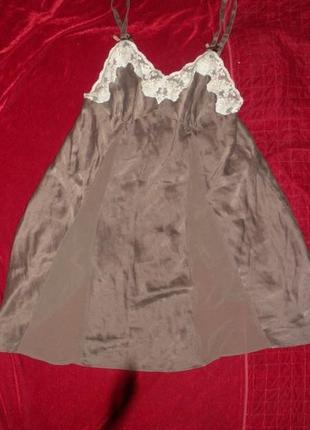 Шикарная мега удобная шелковая ночная рубашка la senza 100% шелк