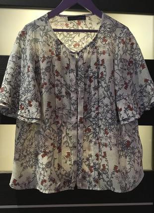 Лёгкая блуза marks&spencer размер 14/xl