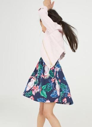 Сарафан, платье h&m france из мягкого хлопка на маленькую модницу; 92см4 фото