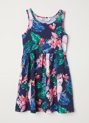 Сарафан, платье h&m france из мягкого хлопка на маленькую модницу; 92см5 фото