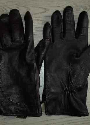Теплые перчатки, нат. кожа