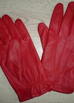 Кожаные перчатки , нат. кожа