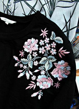 Крутейший свитшот свитер джемпер кофта худи реглан с вышивкой  ❣️