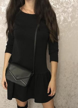 Чёрная сумочка сумка кроссбоди f&f