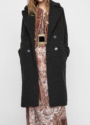 Zara искусственная шубка шуба пальто размер м новая в наличии